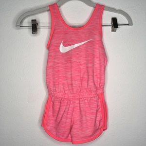 Nike Dri-Fit Pink Sleeveless Romper Jumpsuit 4T